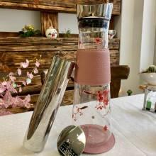 """Botella EVE """"Cherry Blossom"""" Eigenart Cristal 1.2L Filtro Inox Ice-Tea"""