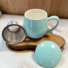 taza  te azul