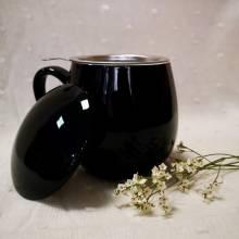 Tisanera negra filtro acero tealovers