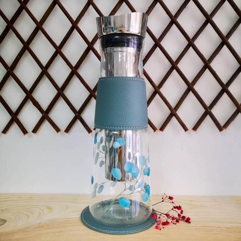 """Botella EVE """"Eucalyptus"""" Eigenart Cristal 1.2L Filtro Inox Ice-Tea"""