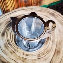 """Infusor Inox """"Teapot"""" con Platillo"""