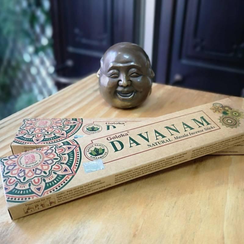 Incienso orgánico Davanam Goloka